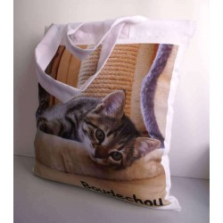 Personnalisation photo d'un Tote Bag polyester