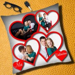 Réalisez un coussin avec quatre photos pour la Saint-Valentin