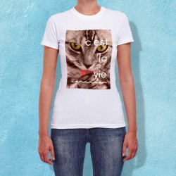 Tee shirt polyester blanc pour femme personnalisé