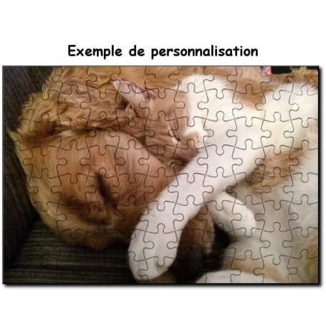 Personnalisation d'un puzzle carton 20x30 cm de 88 piéces