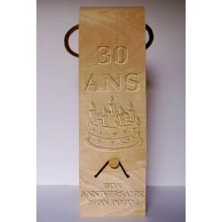 Caisse en bois pour bouteille de vin à graver