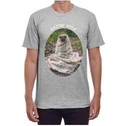 Tee-shirt Gris impression sur le torse