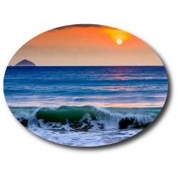 Tableau photo en plexiglas personnalisé avec une découpe ovale